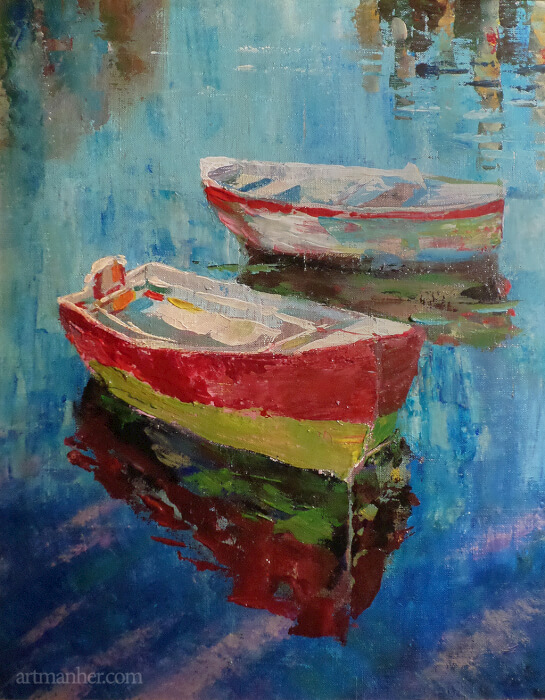 "Диптих ""Лодки"". Часть 2 - 2. (The diptych ""Boats"". Part 2 - 2.)"